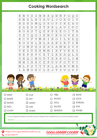 Our Cooking Wordsearch