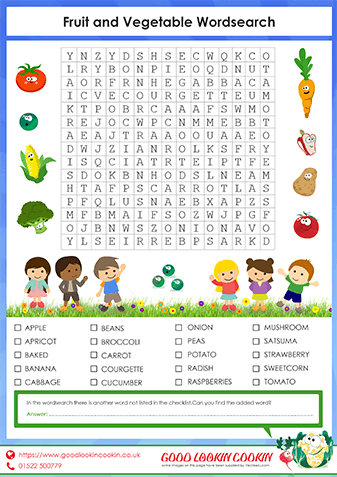 Our Fruit and Vegetable Wordsearch